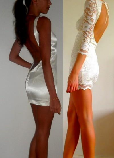 klänning utan bh