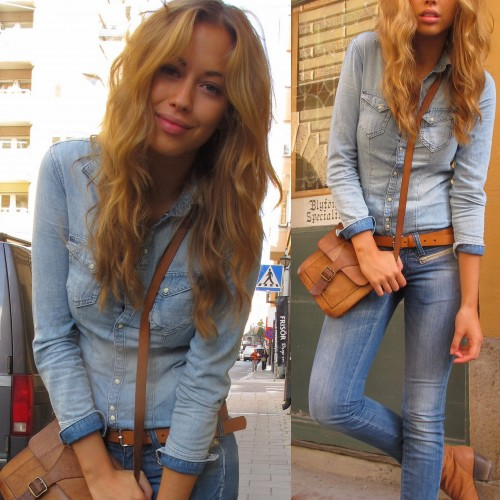 jeansskjorta till jeans