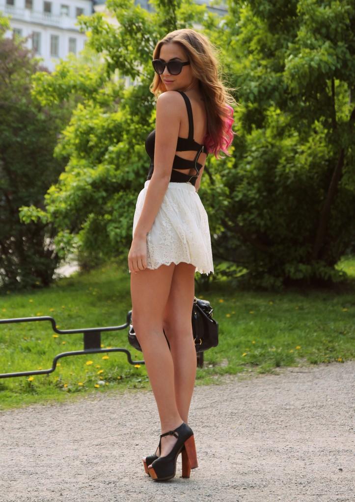 kort kjol utan trosor