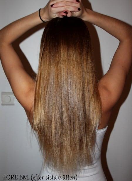 balsammetoden längre hår