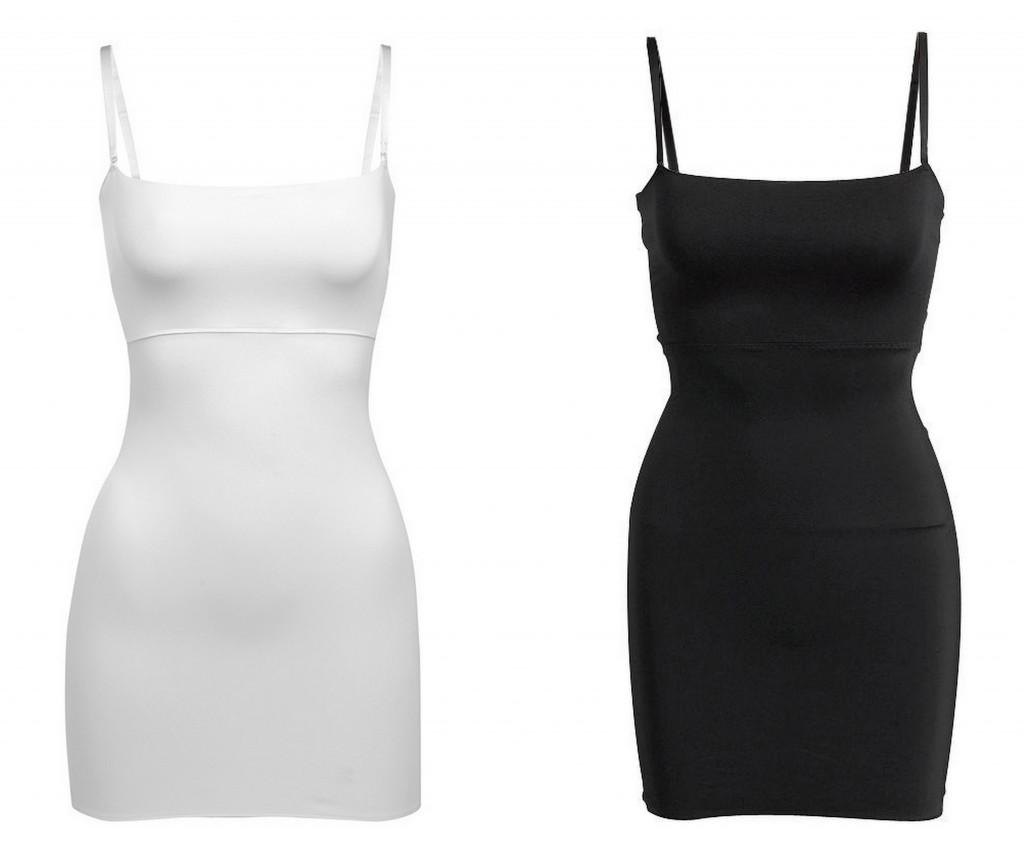 vita tighta klänningar