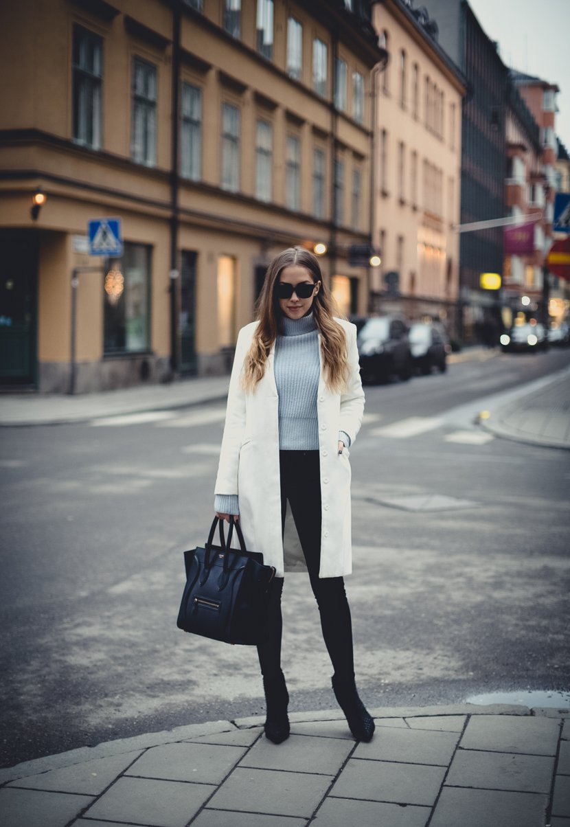 outfit white coat st-1