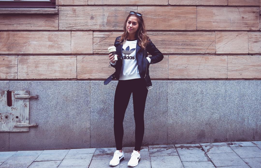 ADIDAS (KENZA) | Legging outfits, Adidas outfit och Kläder