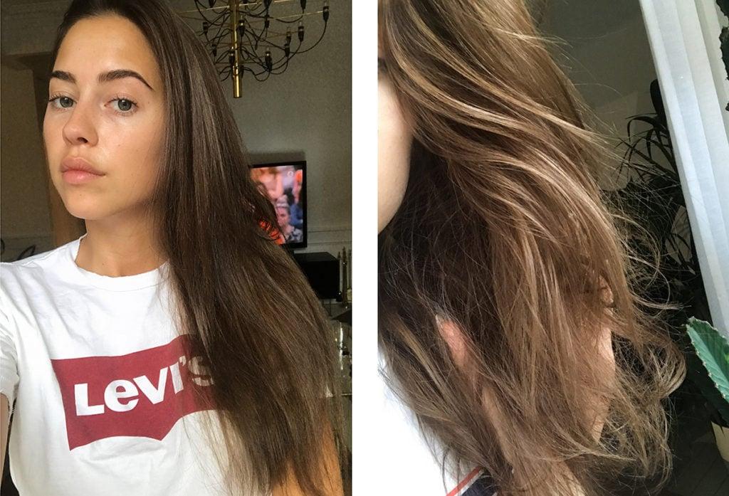 få bort färg ur håret